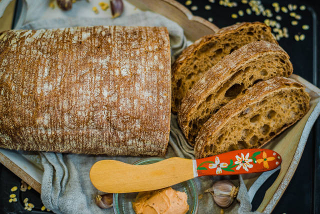 Ciabatta Bread With Creamcheese and Garlic