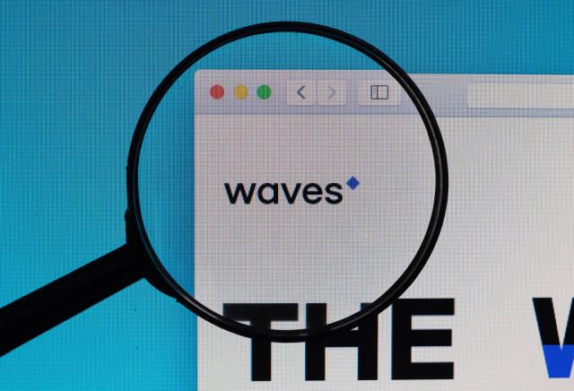 Waves website under magnifying glass