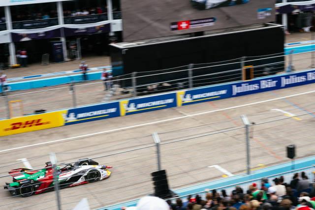 Berlin 2019 E-Prix: Top view of Lacas di Grassis car