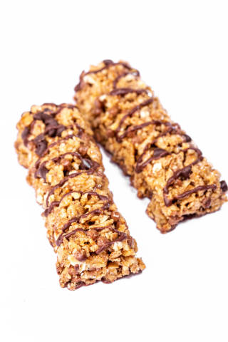 Oatmeal sweets with nuts and chocolate