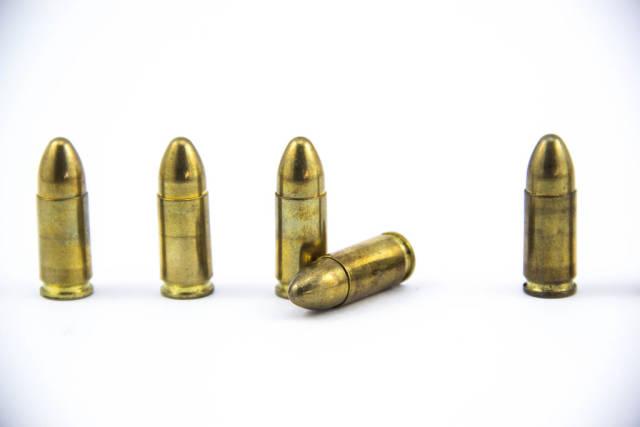 Macro Shot of Bullets