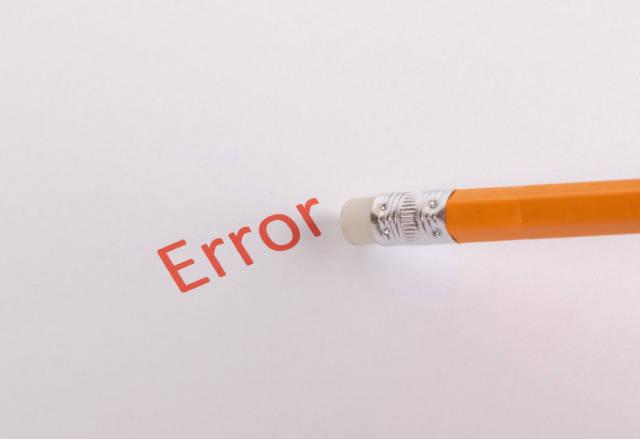 Pencil eraser erase Error text