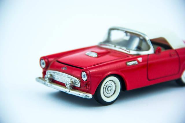 Classic Red Model Car