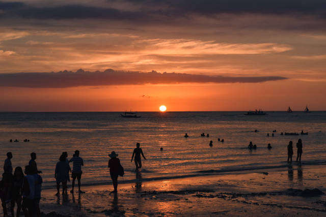 A beautiful sunset view in Boracay