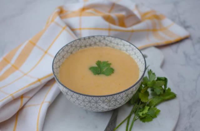 Potato and Leek Soup in a Bowl