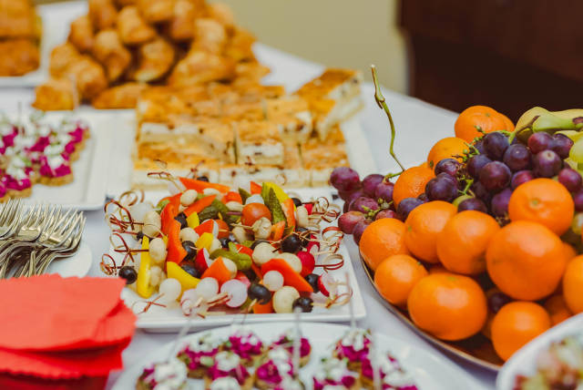 Canape Vegetable breakfast Table