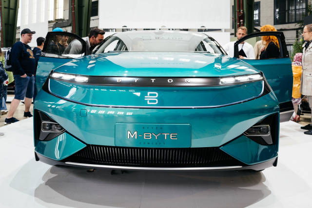 Byton M-Byte concept of future self-driving car front view