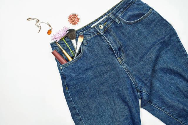 Preparing spring cosmetics and wardrobe