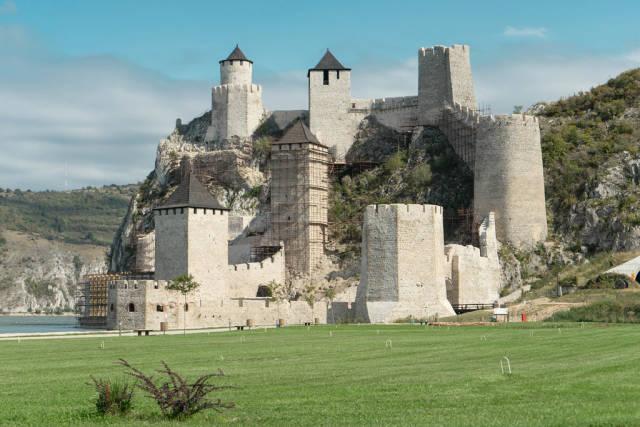 Golubac Fortress at the Danube River