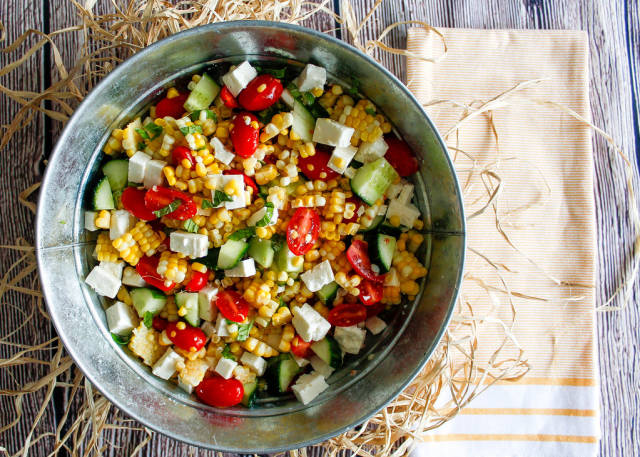 Frischer Mais-Salat