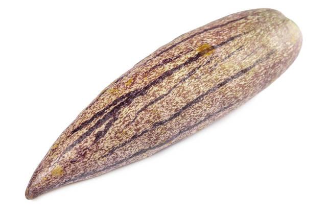 Close-up, whole fresh pepino fruit