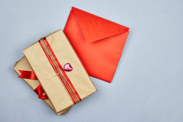 A love letter with present boxes
