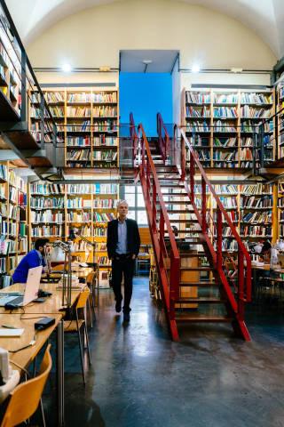 Oldschool library in Greece