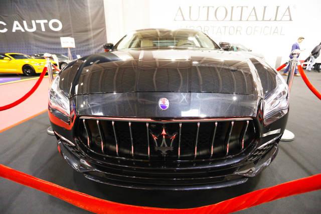 Maserati Quattroporte S Q4, front view at Bucharest Auto Show 2019 SAB