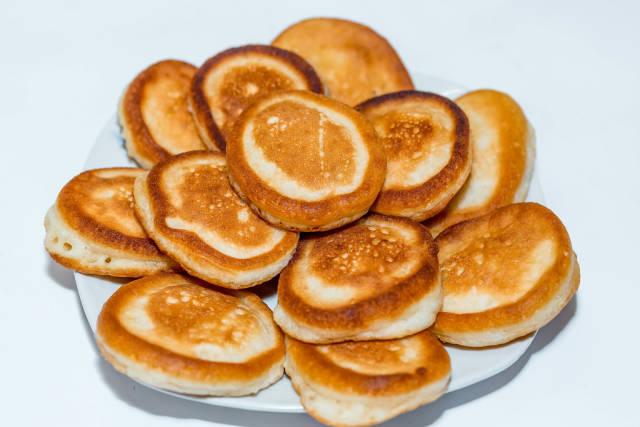 Homemade fried pancakes for Breakfast