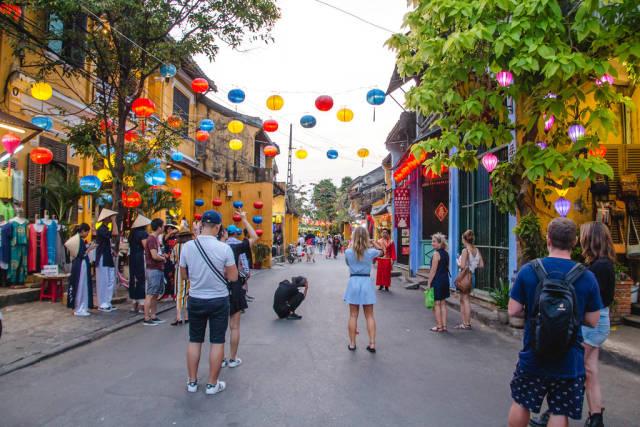 Street with Lantern in Hoi Ann Vietnam
