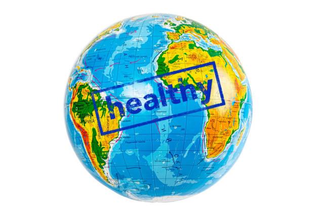 The concept of a healthy planet, no pollution and disease