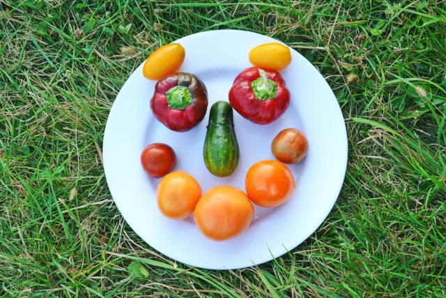 Lächeln aus Gemüse