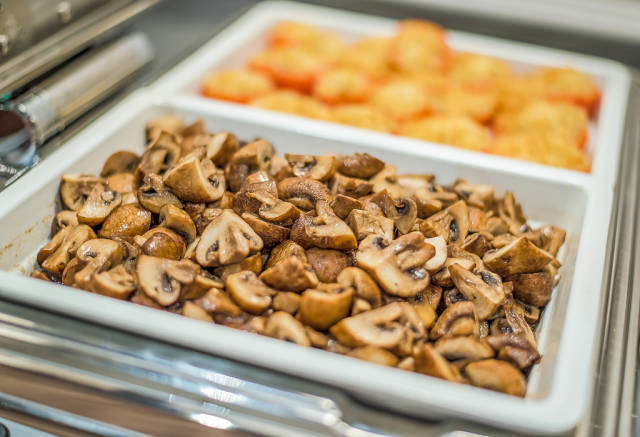 Freshly Baked Mushrooms With Butter