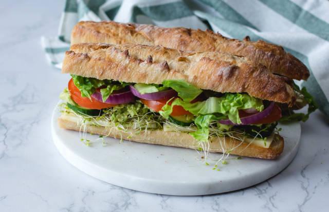 Veggies Sandwich Close -Up