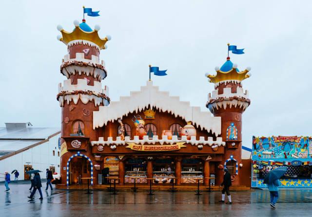 Candy castle at Oktoberfest 2019 in Munich