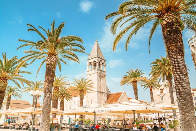 Die Stadt Trau in Kroatien