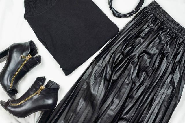 Stylish black female casual outfit set