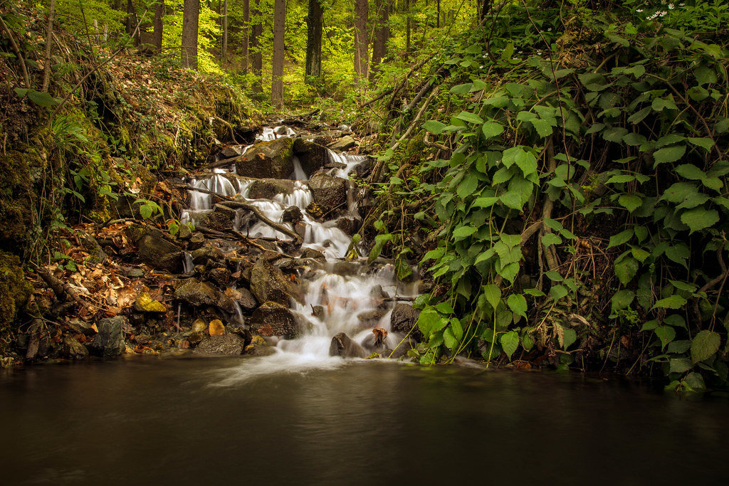 Kleiner Wasserfall in Mariborsko Pohorje