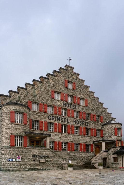 Beautiful old stone hotel – Grimsel Hospiz – in Switzerland
