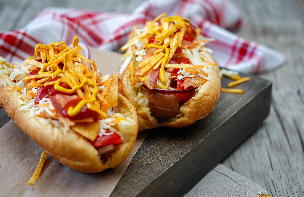 Al Dressed Hot Dog Close-Up