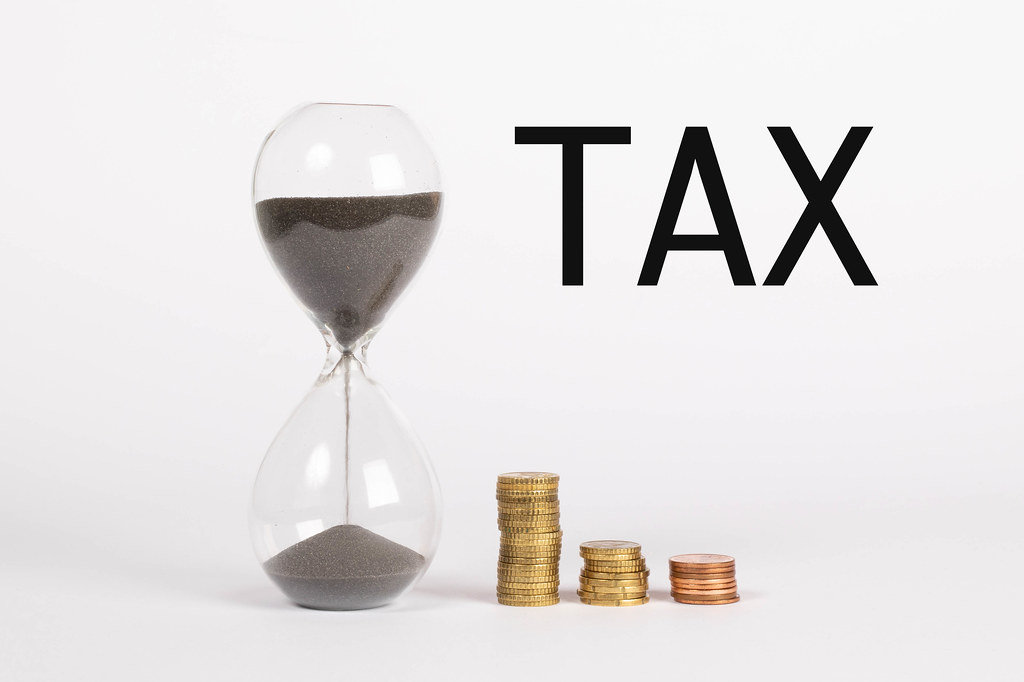 Time countdown for tax deadline concept