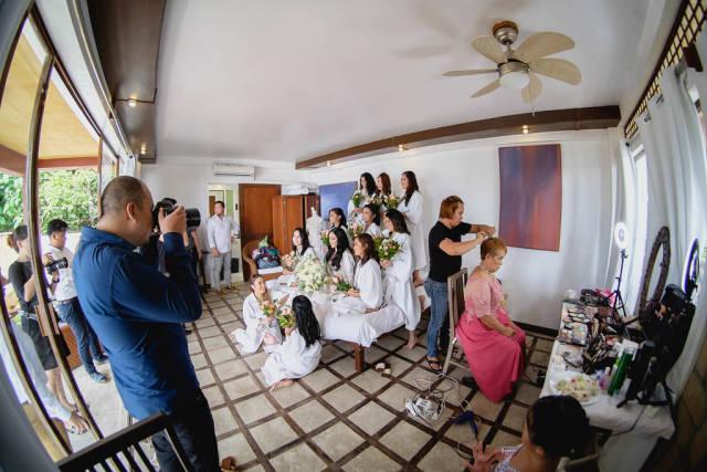 Wedding shoot of the bride at Punta Bulata