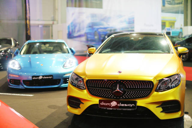Mercedes-Benz CL63 AMG sport car at Bucharest Auto Show 2019 SAB