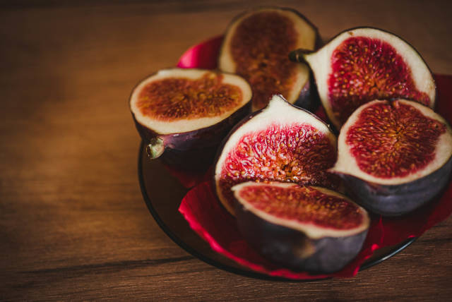Fresh And Juicy Sliced Figs