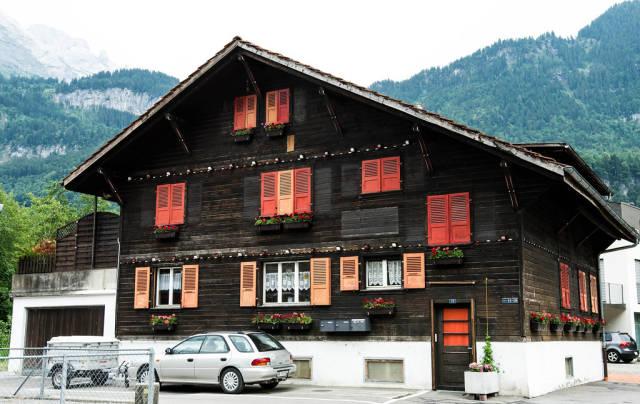 Typical Swiss home in Meiringen, Switzerland