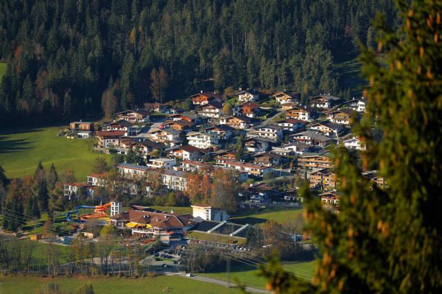 Houses at the mountains, Ellmau, Austria
