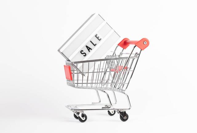 Sale light box in shopping cart