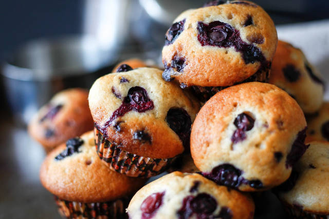 Blueberries Muffins  close up
