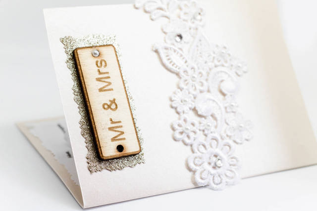 Mr. and Mrs. Sign on the wedding invitation