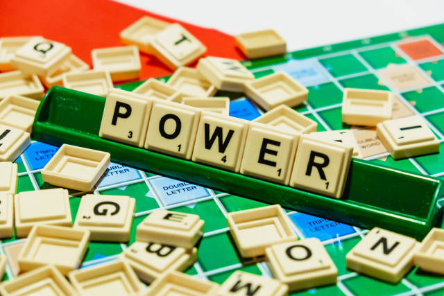 "Power"" word on scrabble"