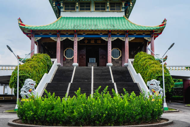 Chinese temple stairway