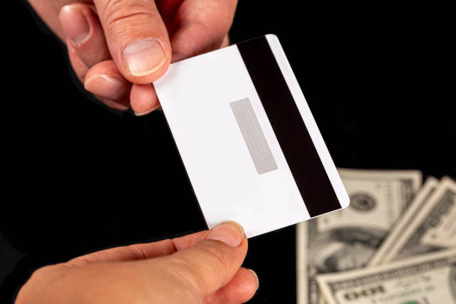 Credit card payment concept, bank transfer