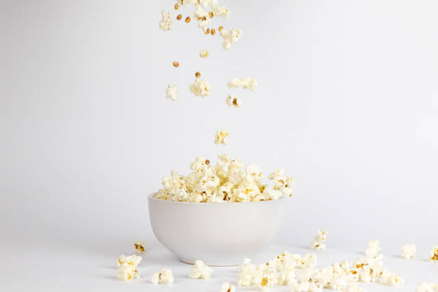 Popcorn Falling In The Plate