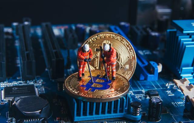 Concept of digital crypto mining