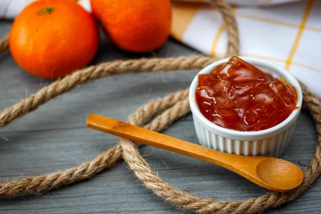 Nahaufnahme von Orangenmarmelade