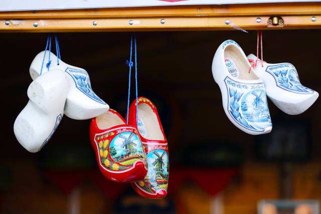 Dutch clogs at Christmas fair