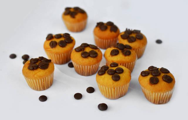 Muffins mit Schoko-Perlen