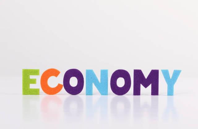 The word Economy on white background
