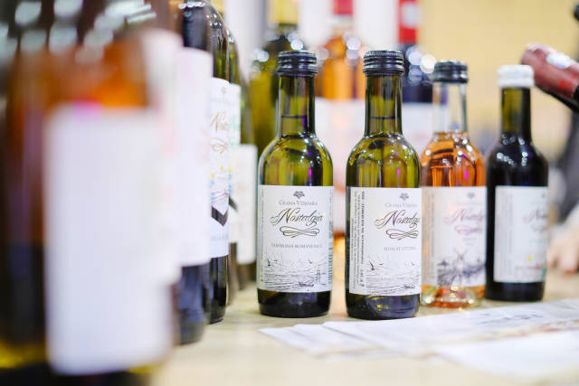 Small wine bottles at GoodWine Wine fair