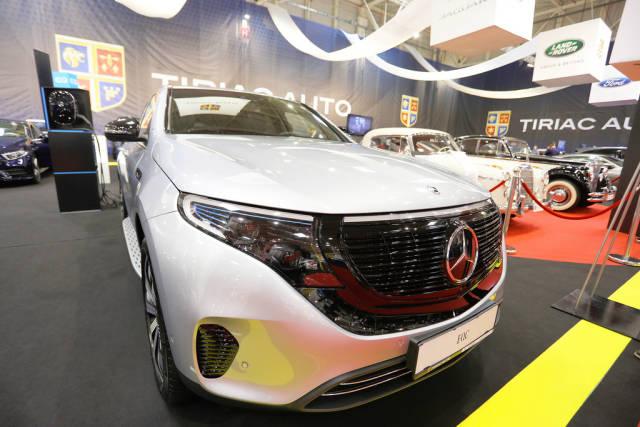 Mercedes Benz EQC at Bucharest Auto Show 2019 SAB